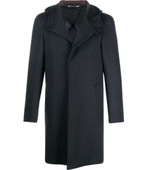 canali concealed fastening duffle coat - blue