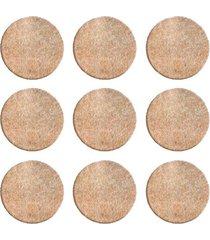 protetor adesivo para móveis bemfixa, feltro redondo, 30 mm, 9 peças