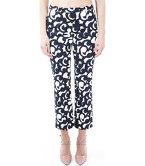s max mara summer blend cotton trousers