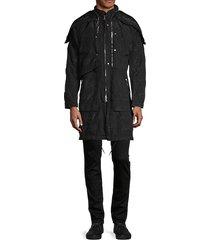 hidden-hood coat