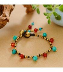 braccialetti di perline fatti a mano etnici dei braccialetti agata naturale turchese naturale dei monili dei braccialetti per le donne