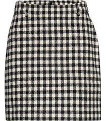 2nd chariton check kort kjol svart 2ndday