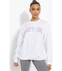 oversized babygirl sweater, white