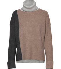 river vhari col blck knts roll turtleneck coltrui beige french connection