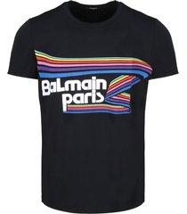 balmain flock rubber t-shirt