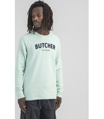 butcher of blue 2023010 peck line sweater jet green 720 -
