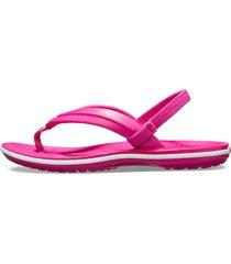 chinelo infantil crocs crocband strap flip rosa.