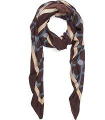 vintage modern shawl - burgundy/beige