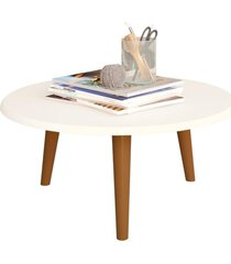 mesa de centro decorativo lyam decor off-white