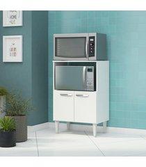 balcão forno e micro 2 portas branco fellicci móveis
