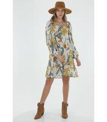 vestido para mujer tennis, corto y estampado de orquideas sobre animal print