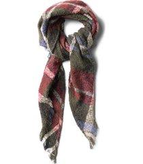 boucle plaid scarf