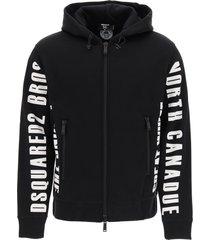 dsquared2 ski hooded sweatshirt with prints