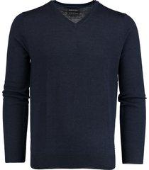 bos bright blue aron v-neck pullover flat kni 19105ar19/290 navy