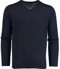bos bright blue pullover donkerblauw v-hals 19105ar19/290 navy