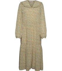 evette ls dress aop dresses everyday dresses grön moss copenhagen