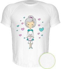 camiseta manga curta nerderia love dogs branco - branco - masculino - dafiti