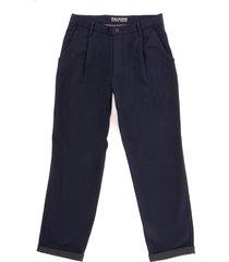 dockers montano single pleated slim trousers - pembroke 56758-02