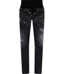 'twin pack straight leg sharpei jean' raw edge jeans