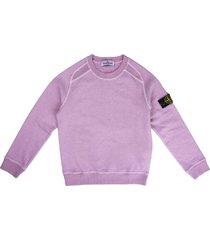 stone island pink crew neck sweatshirt