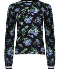 blusa con resorte en mangas color negro, talla 6