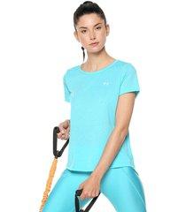 camiseta azul aguamarina under armour whisperlight ss