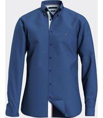 camisa slim estampado geométrico multicolor tommy hilfiger