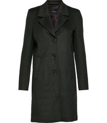 slfsasja wool coat noos b wollen jas lange jas groen selected femme
