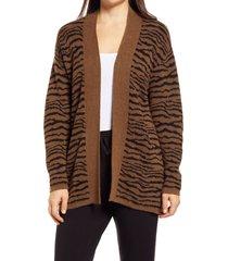 women's lou & grey cypress tiger stripe cardigan, size xx-large - brown