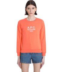 a.p.c. sweatshirt in orange cotton