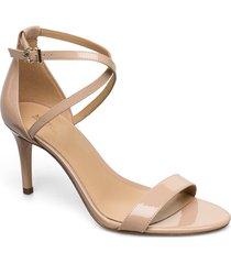 ava mid sandal sandal med klack beige michael kors shoes