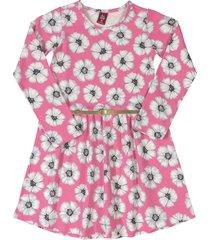 vestido rosa-blanco-negro bee loop
