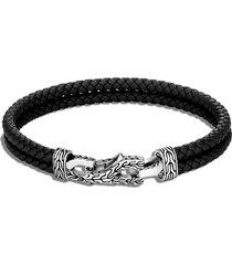 men's john hardy men's asli classic chain double woven leather bracelet