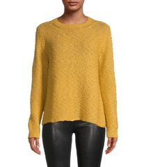 eileen fisher women's knitted cotton top - marigold - size xl