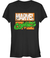 fifth sun marvel women's comics haunted retro logo bats spiders short sleeve tee shirt