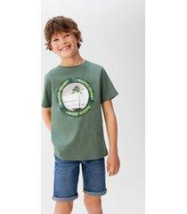 bedrukt t-shirt van organisch katoen
