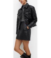 mango women's pocket quilted jacket