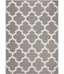 "safavieh bermuda gray and ivory 5'3"" x 7'6"" sisal weave area rug"