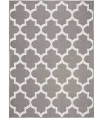 "safavieh bermuda gray and ivory 5'3"" x 7'6"" sisal weave rug"