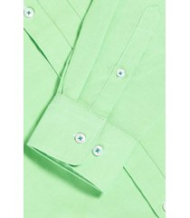psycho bunny tapton chambray men's button-down shirt, size 6 in electric lime at nordstrom