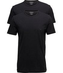 mens knit 2pack tsh underwear t-shirts short-sleeved svart emporio armani
