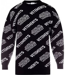 vetements x star wars logo print sweater