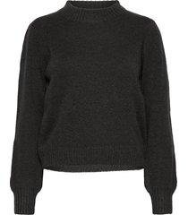 angie knit pullover gebreide trui grijs minus
