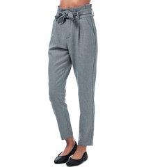 womens eva paperbag houndstooth trousers