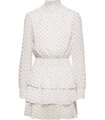 alexa turtleneck dress kort klänning vit gina tricot