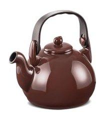 chaleira colonial 1.7 litros em cerâmica chocolate ceraflame