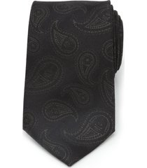 men's cufflinks, inc. darth vader paisley silk tie, size regular - black