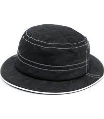 10 corso como contrast-trim hat - black