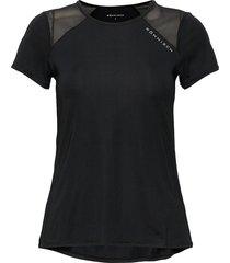 asta mesh tee t-shirts & tops short-sleeved svart röhnisch