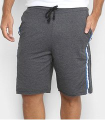 shorts moletom burn listra lateral masculino